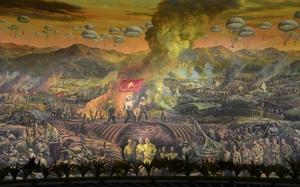 Tranh Panorama khổng lồ tái hiện sinh động chiến thắng Điện Biên Phủ