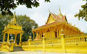 Sóc Trăng: Ngôi chùa Khmer hơn 500 tuổi có nhiều bức tượng Phật nổi tiếng và những cây hồng nhung cổ thụ