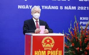 Tổng Bí thư Nguyễn Phú Trọng và 28 người trúng cử đại biểu Quốc hội khóa XV tại Hà Nội