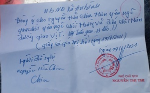 """Bắc Ninh: Phó Chủ tịch xã An Bình (Thuận Thành) ký giấy cho dân """"đi chợ"""" trong vùng dịch"""
