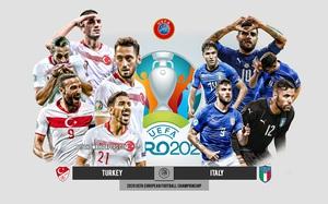 Xem trực tiếp Italia vs Thổ Nhĩ Kỳ trên VTV3
