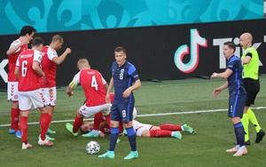 SỐC: Tiền vệ Eriksen tự đổ gục, nuốt lưỡi trong trận Đan Mạch vs Phần Lan