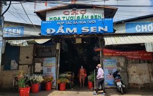 Chợ hoa Đầm Sen đắt khách, bán gần hết ngay trong buổi sáng trước Tết Đoan ngọ
