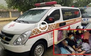 """Clip: Xe cứu thương chở khách """"chui"""" vượt chốt kiểm soát từ Bắc Ninh về Sơn La"""