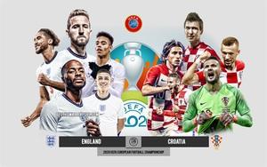 Xem trực tiếp Anh vs Croatia trên VTV6
