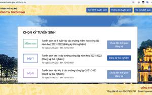 Tuyển sinh lớp 1 trực tuyến: Phụ huynh đăng ký thử nghiệm để điều chỉnh sai sót