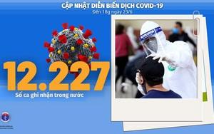 Bộ Y tế: Diễn biến dịch Covid-19 tính đến 18h ngày 23/6