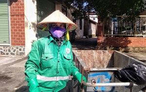 Công nhân vệ sinh môi trường gồng mình trong nắng nóng ở Hà Nội