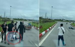 Clip nóng: Tài xế giải cứu nam thanh niên đang bị nhóm người đánh 'hội đồng' giữa đường
