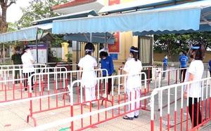 Các trường học ở Hà Nội diễn tập ứng phó với Covid-19 trước kỳ thi vào lớp 10