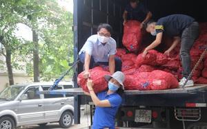 Hội nông dân tỉnh Thái Nguyên hỗ trợ tiêu thụ 17 tấn hành tím cho bà con nông dân Sóc Trăng