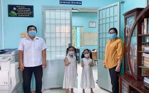 Hai em nhỏ mổ heo đất để ủng hộ Quỹ vaccine phòng chống Covid-19