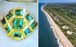 Bí ẩn chiếc nhẫn cổ đính 9 viên ngọc lục bảo trôi dạt vào bờ biển Mỹ