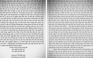 """Bài phân tích 11 trang giấy về khổ thơ trong """"Sóng"""" đề Văn thi tốt nghiệp THPT gây tranh cãi"""