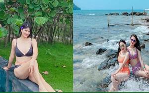 """Hoa khôi bóng chuyền Kim Huệ diện bikini """"đốt mắt"""", còn Thu Hoài, Thu Huyền thì sao?"""