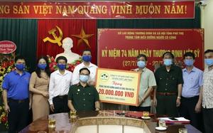 Supe Lâm Thao thăm, tặng quà Trung tâm Điều dưỡng người có công tỉnh Phú Thọ