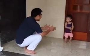 Clip nóng: Bé gái quên mặt bố sau khi bố đi chống dịch 2 tháng