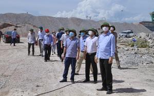 PCT Lê Đức Giang đình chỉ mỏ đá lớn nhất tỉnh Thanh Hóa do có nhiều sai phạm