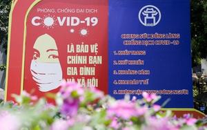 Hàng loạt thông điệp tiếp thêm sức mạnh trong công tác phòng, chống dịch Covid-19 trên đường phố Thủ đô