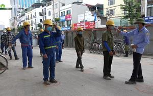 Cận cảnh quy trình phòng dịch nghiêm ngặt tại công trường đường Vành đai 2