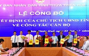 Thừa Thiên Huế công bố quyết định bổ nhiệm lãnh đạo các sở Tài Chính, NNPTNT và Du lịch