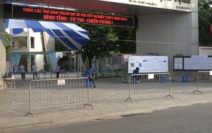 Hà Nội: Phòng dịch, phụ huynh không còn đứng chờ tập trung ở cổng các điểm thi THPT