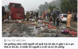 Tung tin xe khách đưa người về quê tránh dịch gặp tai nạn, một phụ nữ bị phạt 10 triệu đồng