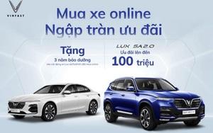 Nhận 3 năm bảo dưỡng miễn phí, ưu đãi tới 100 triệu khi mua xe VinFast online trong tháng 8