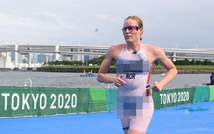 """Đỏ mặt Olympic: Nữ VĐV mặc đồ thi đấu """"trong suốt"""", nhìn thấy hết"""