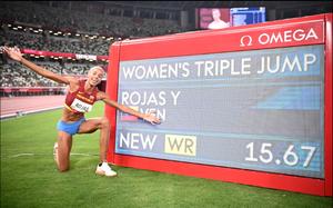 Nữ VĐV nhảy xa Venezuela phá kỷ lục Olympic 26 năm, đoạt HCV là ai?