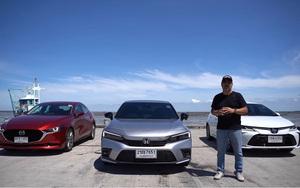 Người đầu tiên trải nghiệm cùng lúc Mazda 3, Honda Civic và Toyota Corolla Altis 2022