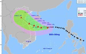 Cập nhật tin bão số 5 mới nhất: Thẳng hướng Quảng Trị - Quảng Ngãi