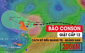 Bão Conson giật cấp 12, cách bờ biển Quảng Trị - Quảng Nam 200km