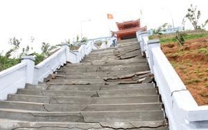 Đắk Lắk: Nhà bia tưởng niệm liệt sỹ bị sụt lún do đất nguyên thổ bị múc đi trước khi thi công?