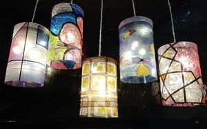 Học làm đèn Trung thu bằng chai nhựa và túi nylon đẹp lung linh, không tốn tiền