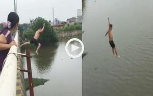 Clip: Toàn cảnh vụ Thượng úy dũng cảm nhảy cầu cứu người đuối nước trên sông