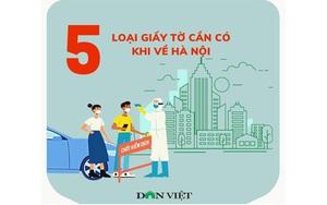 5 loại giấy tờ người dân cần chuẩn bị khi về Hà Nội
