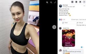 """Hoa khôi bóng chuyền Kim Huệ khoe... """"bụng phẳng"""" không tì vết"""