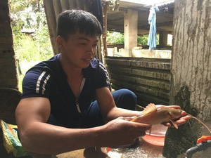 Trai dân tộc Lào cất bằng báo chí về nuôi cá lăng, lãi gần 20 triệu/tháng