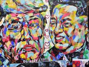Họa sĩ Quảng Bình vẽ hơn 100 bức chân dung ông Trump và ông Kim