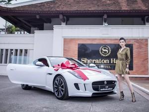 Á hậu Huyền My tậu xe sang Jaguar 6 tỷ đồng