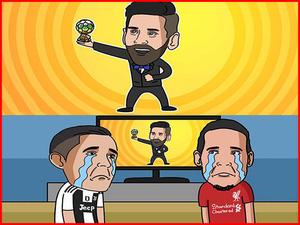 """Messi """"ẵm"""" quả bóng vàng thứ 6 khiến Ronaldo """"khóc ròng"""""""