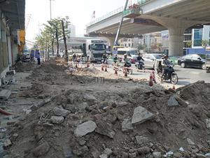 Hà Nội: Nhếch nhác trên tuyến đường 3.100 tỷ vừa thông xe