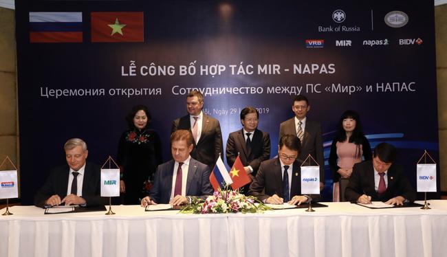BIDV và NAPAS công bố triển khai dịch vụ kết nối với tổ chức thẻ nội địa Liên bang Nga NSPK - Ảnh 1.