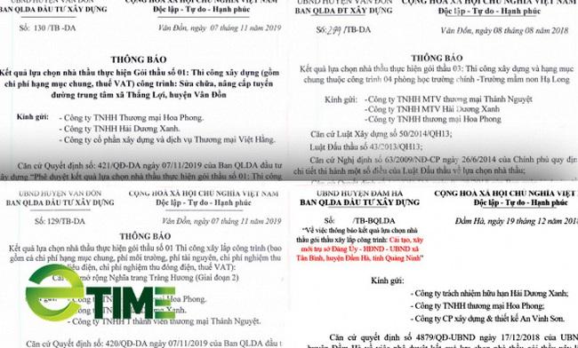 Nhóm doanh nghiệp dàn xếp đấu thầu ở huyện Vân Đồn - Ảnh 2.