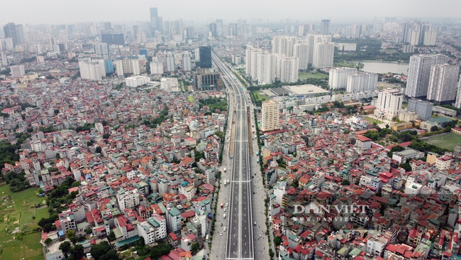 Thông xe đường vành đai 3 trên cao Mai Dịch - cầu Thăng Long trị giá hơn 5.000 tỷ đồng - Ảnh 1.