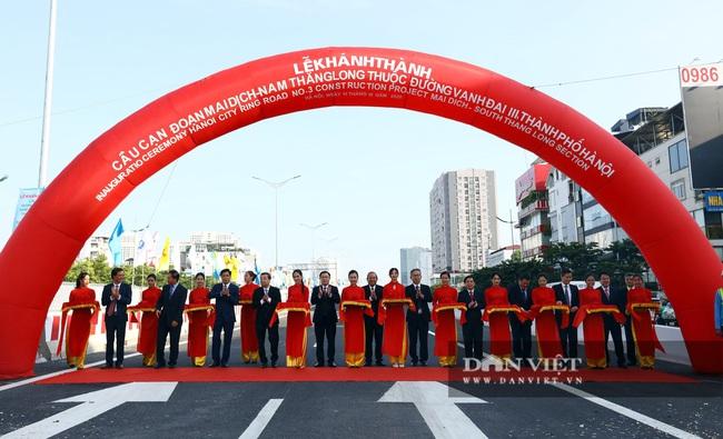 Thông xe đường vành đai 3 trên cao Mai Dịch - cầu Thăng Long trị giá hơn 5.000 tỷ đồng - Ảnh 2.