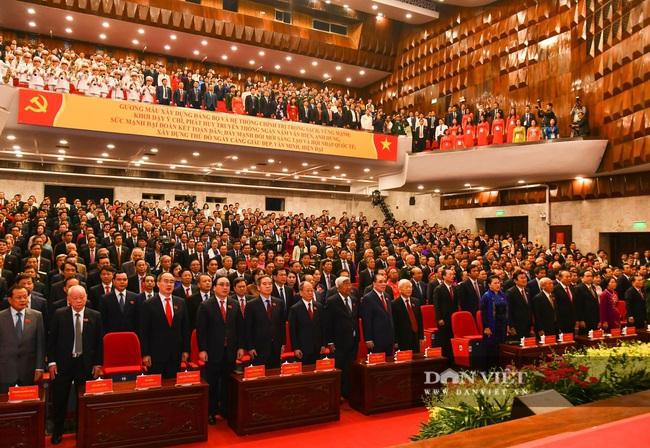 Chùm ảnh: Tổng Bí thư, Chủ tịch nước và lãnh đạo Đảng, Nhà nước dự Đại hội Đảng bộ TP Hà Nội - Ảnh 12.