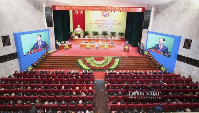 Hình ảnh Tổng Bí thư, Chủ tịch nước và lãnh đạo Đảng, Nhà nước dự Đại hội Đảng bộ TP.Hà Nội - Ảnh 17.