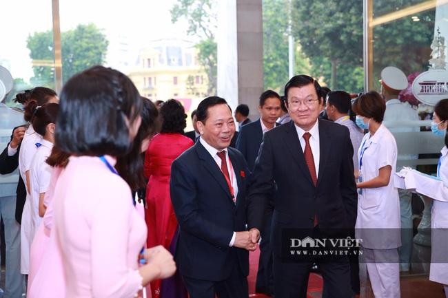 Chùm ảnh: Tổng Bí thư, Chủ tịch nước và lãnh đạo Đảng, Nhà nước dự Đại hội Đảng bộ TP Hà Nội - Ảnh 5.